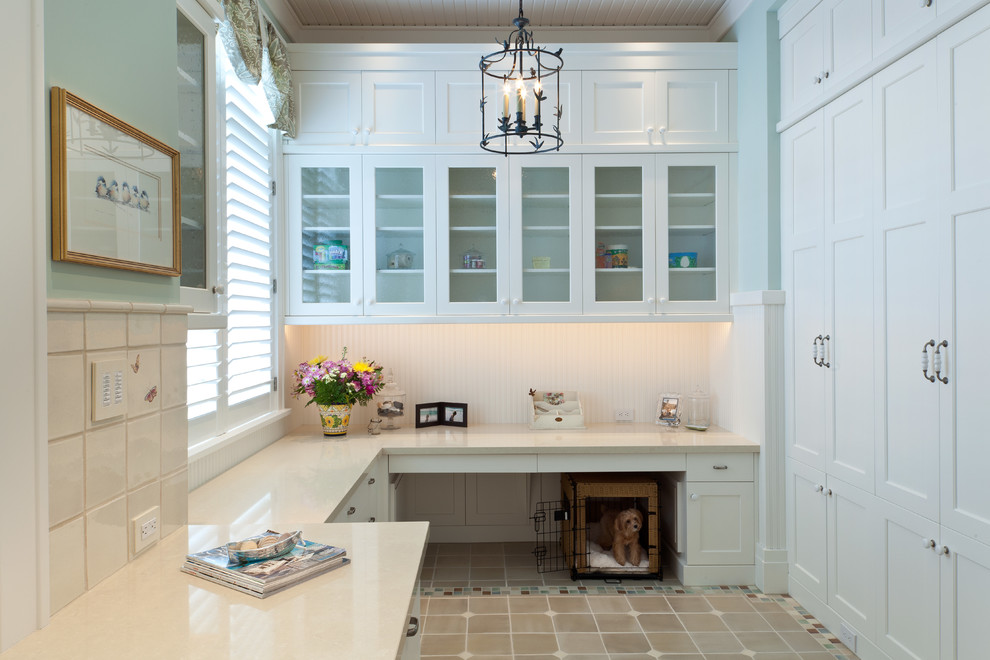 Innovative-dog-crate-covers-in-Laundry-Room-Traditional