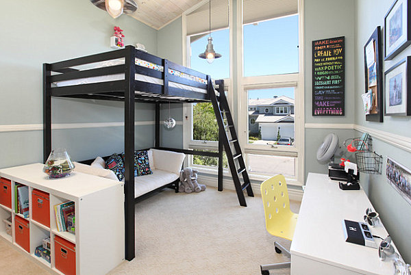 Loft-beds-allow-for-seating-underneath