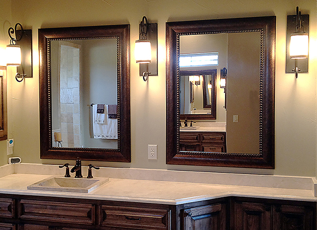Matching-framed-bathroom-MIrrors