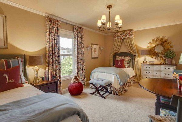 Twins-Bedroom-Set-within-Classic-Style