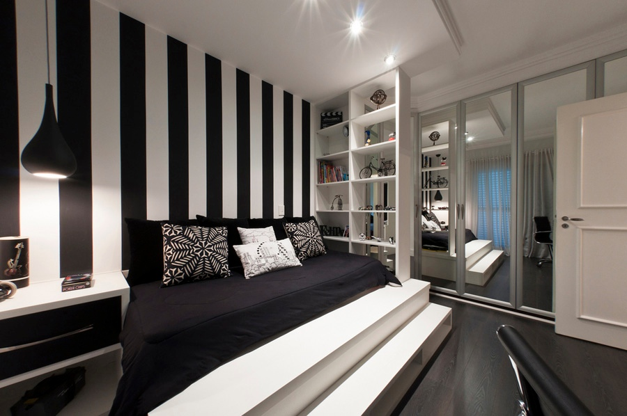 black-and-white-bedroom-wall-ideas-