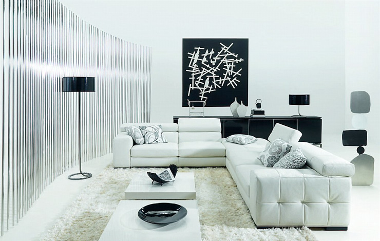 black-and-white-living-room-