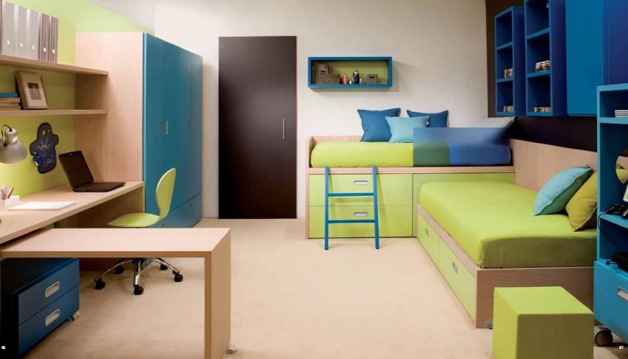 exquisite-pretty-modern-shared-kids-bedroom-design-