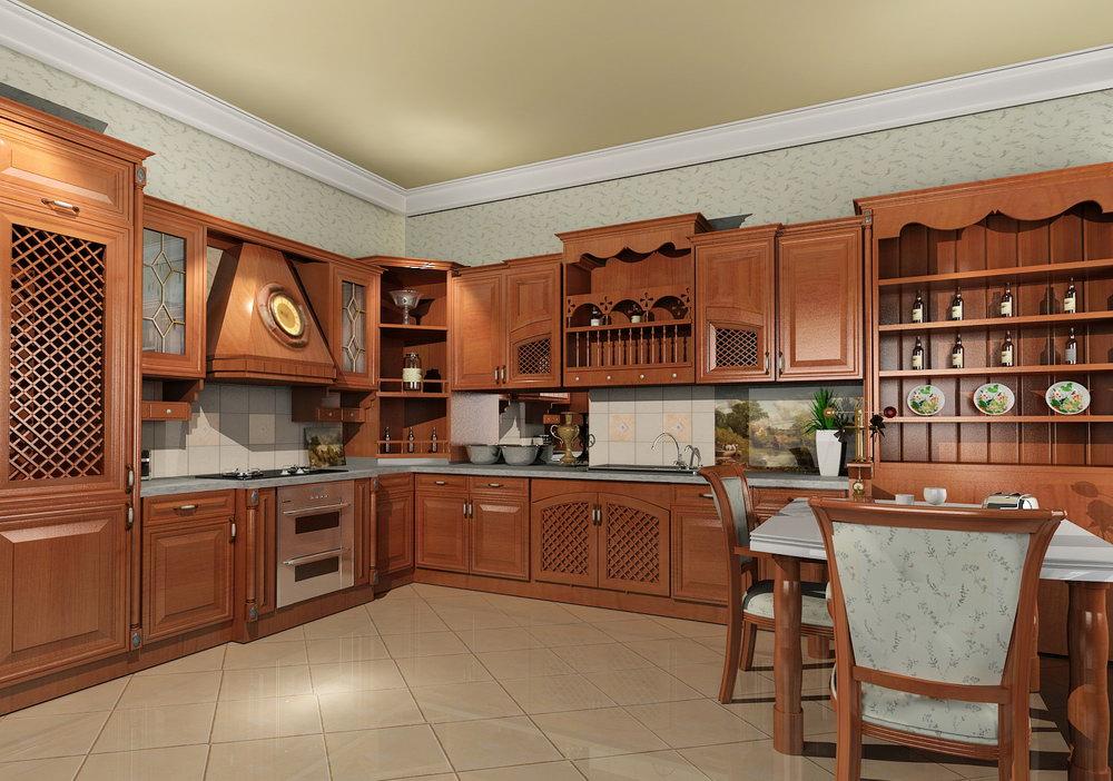 fascinating-modern-kitchen-design-with-solid-wood-kitchen-set
