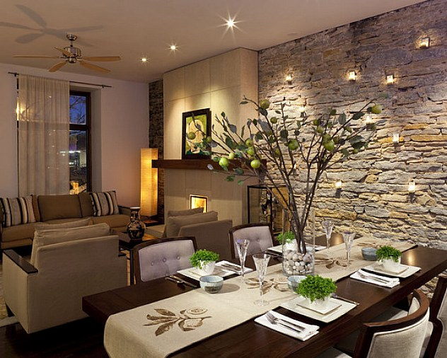 Formal Luxurious Dining Room Table Centerpieces