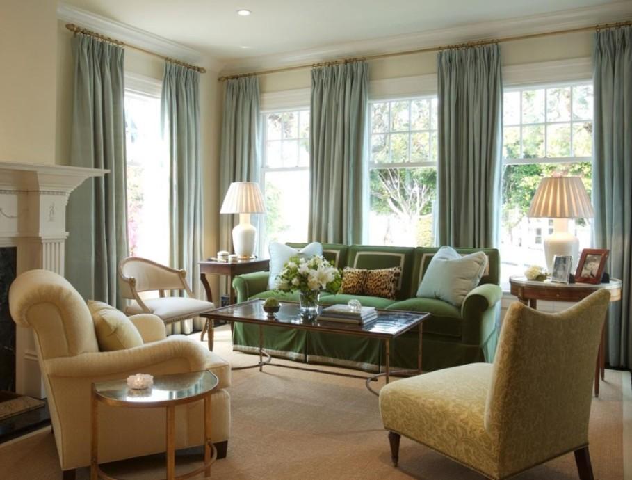 lovely-green-sofa-slipcover-plus-glass-top-table-design-