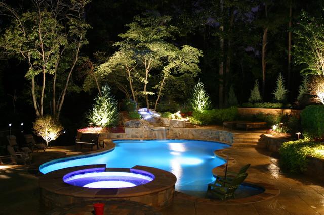 outdoor pool lighting