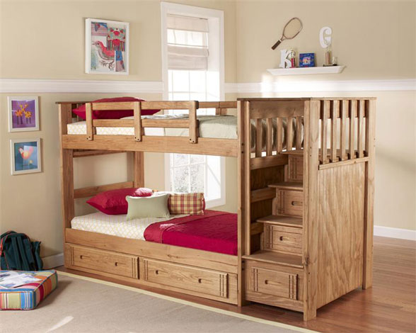 remarkable-bunk-bed-plans-stairs-