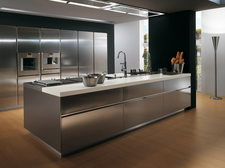 stainless-steel-kitchen-cabinets-decorating-ideas