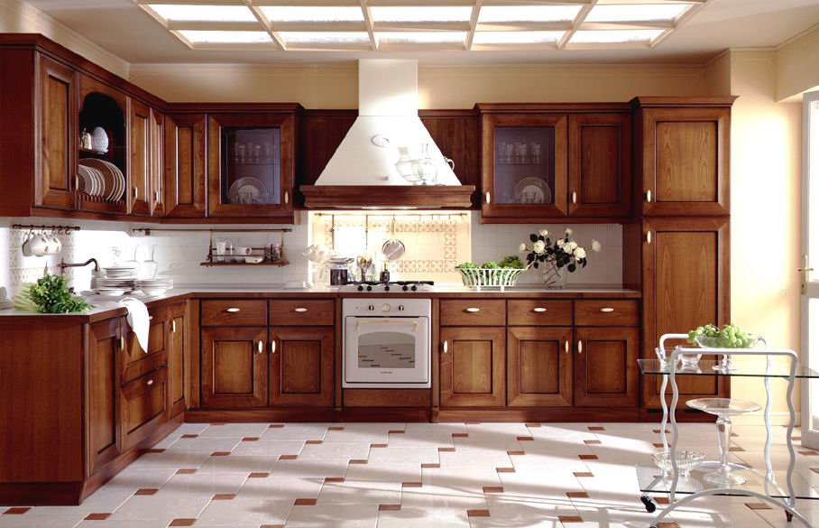 stove-and-wooden-cabinet-in-contemporary-kitchen