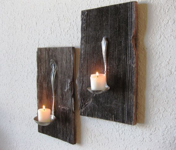 wood candle hold