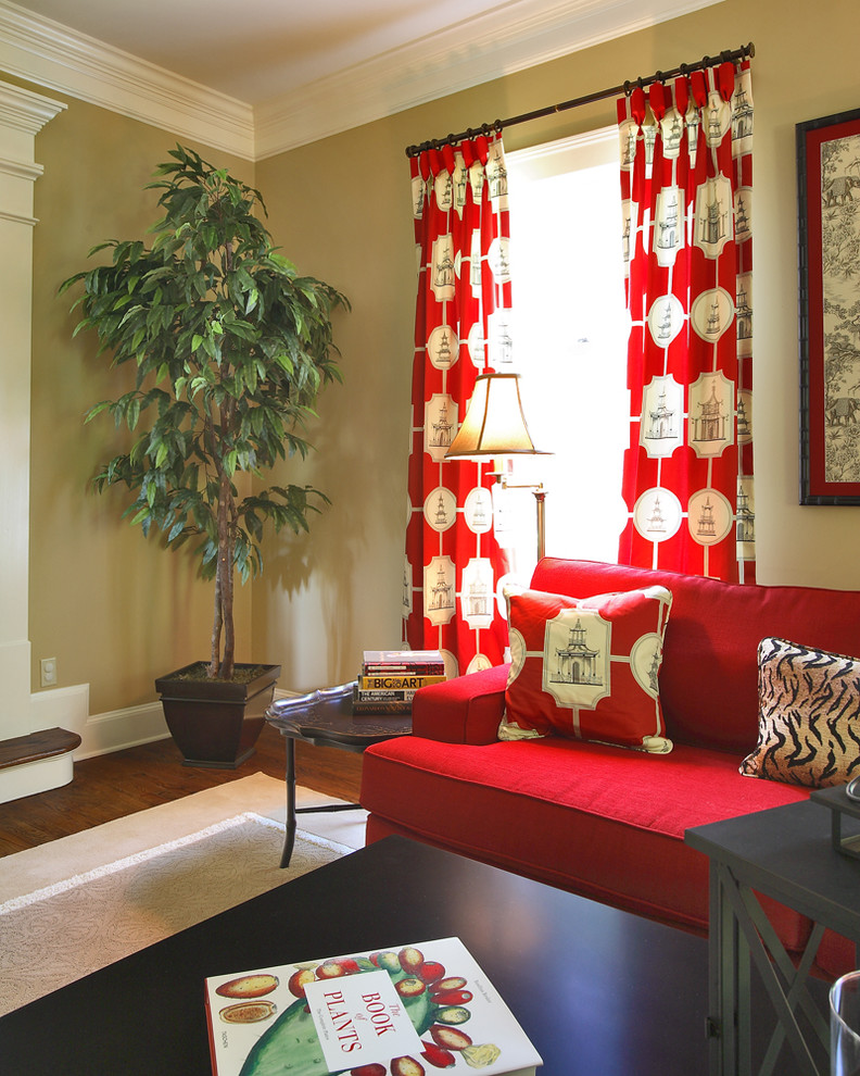 Killer-Living-Room-Asian-design-ideas-for-Red-Silk-Drapes-Image-Gallery