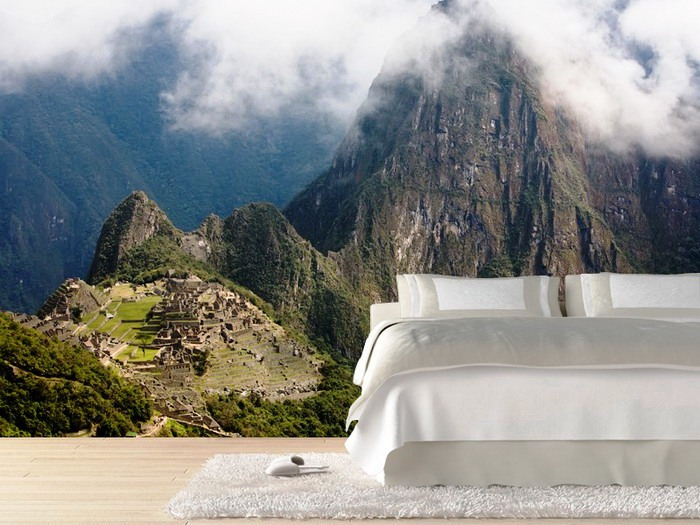 Modern-Bedroom-with-Photo-Natural-Mural