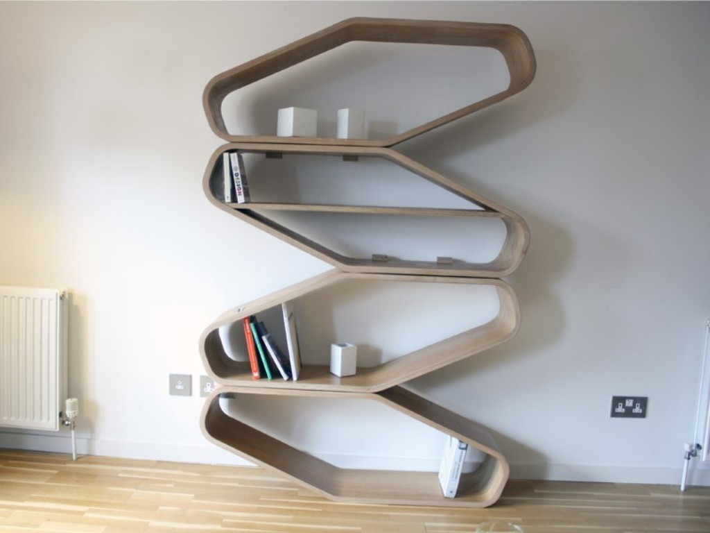 Wave-Zigzag-Bookshelf-Design-