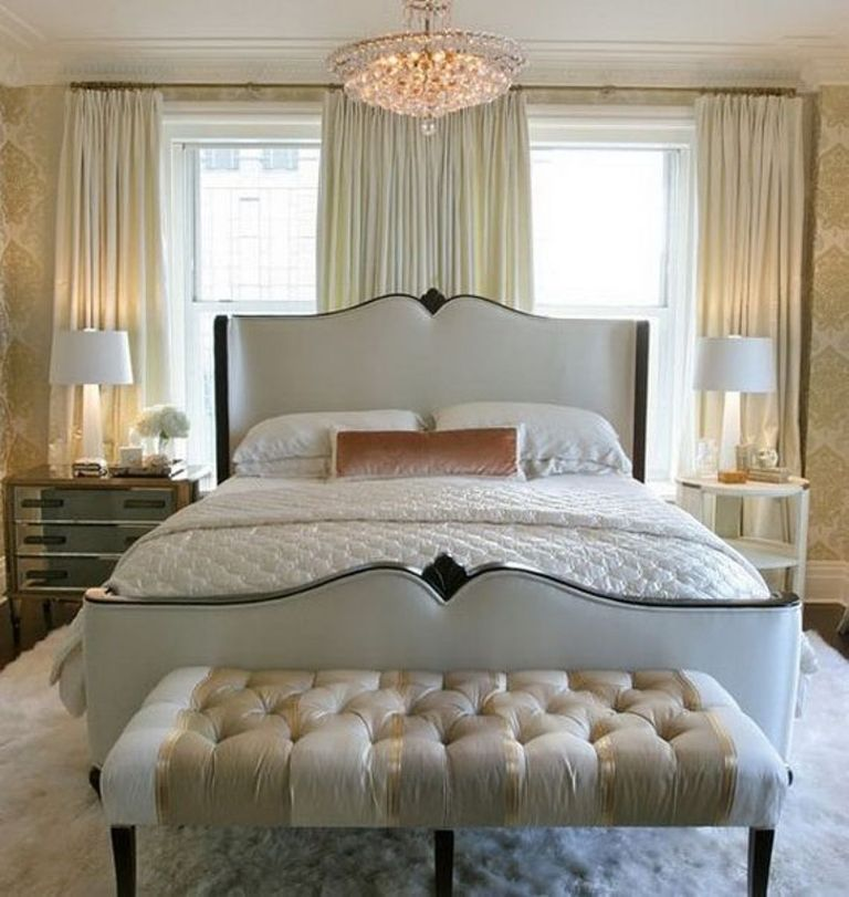 cool-round-crystal-chandelier-mixed-with-modern-bedroom-