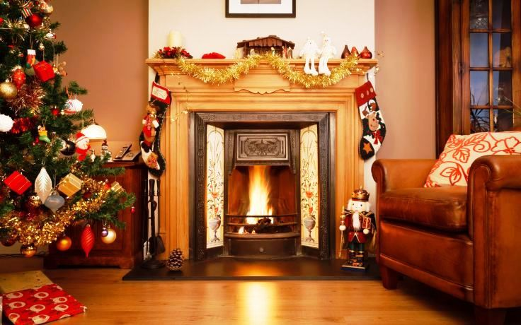 fireplace for christmas ideas