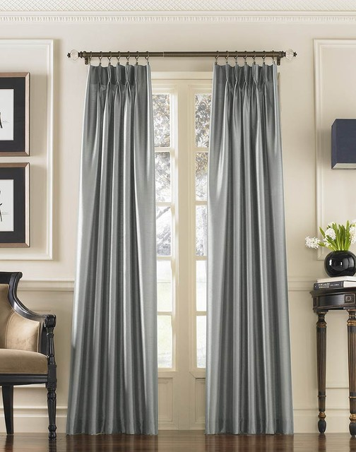 grey-faux-silk-curtains-for-traditional-window-decor-