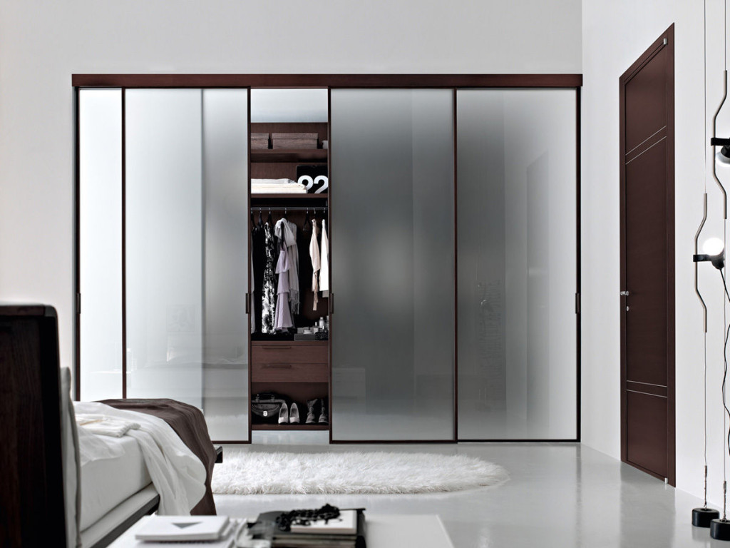 luxury-walk-in-closet-with-blurred-glass-sliding-door-mixed-stunning-master-bedroom-ideas
