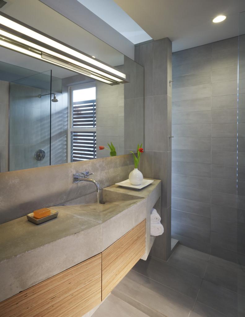 Concrete Bathroom Sink Cabinet