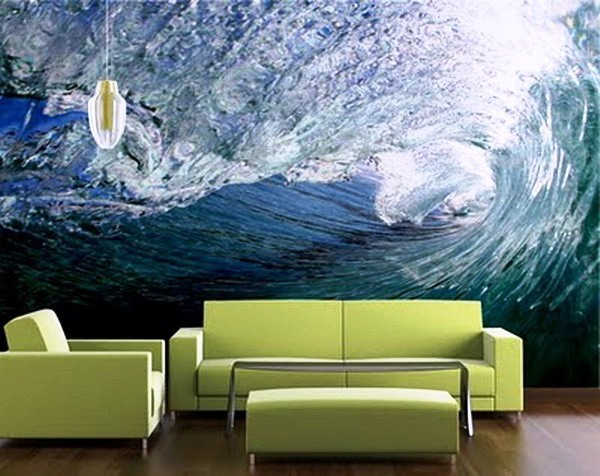 modern-custom-green-living-room-wallpaper-