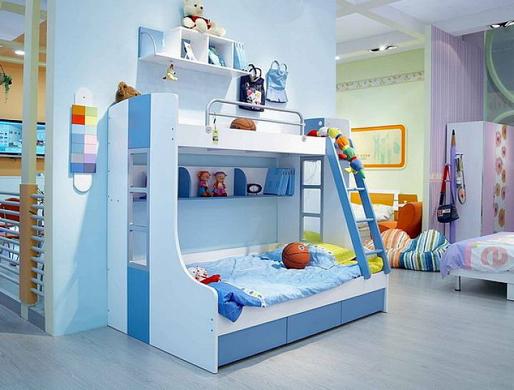 stylish-bedroom-furniture-for-children-with-blue-themes