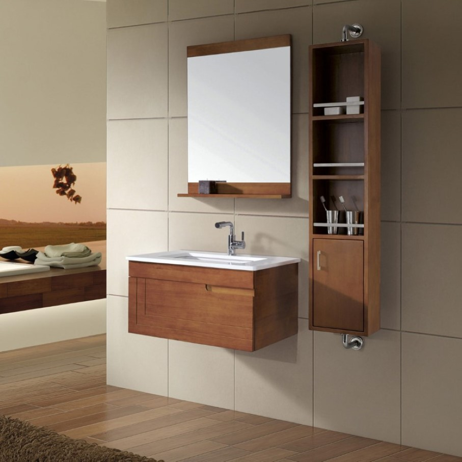 stylish-faucet-and-wall-mirror-with-shelf-feat-minimalist