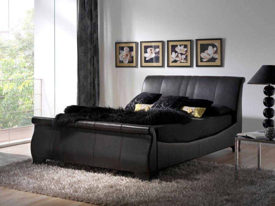 tufted-leather-sleigh-bed