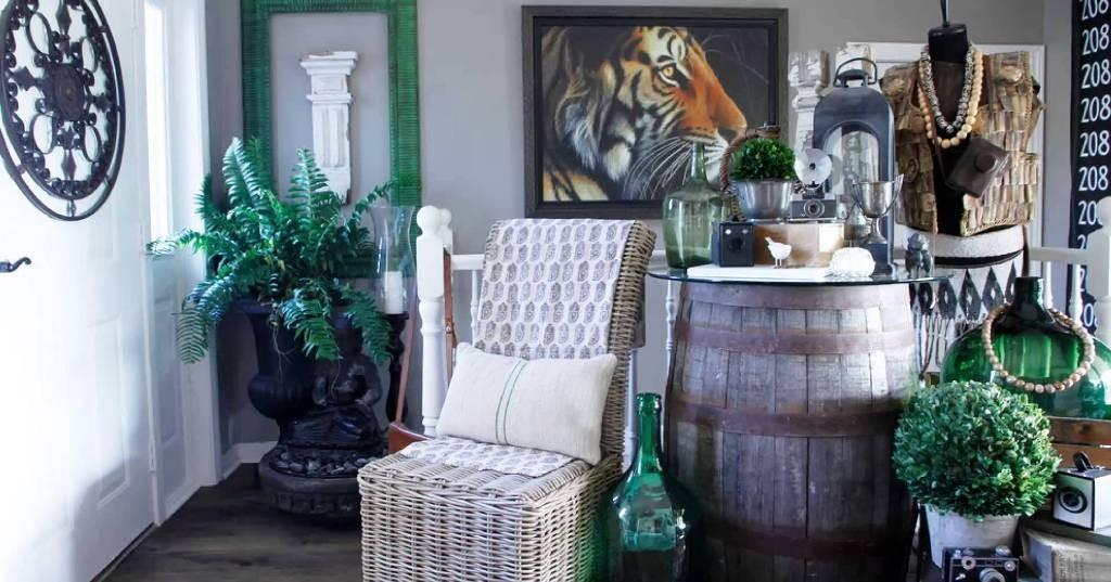 wine barrel table storage