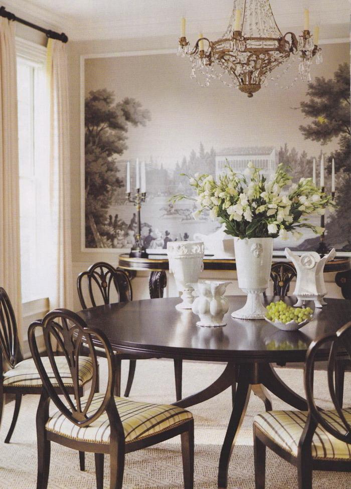 Beautiful-Mural-Dining-Room-Design
