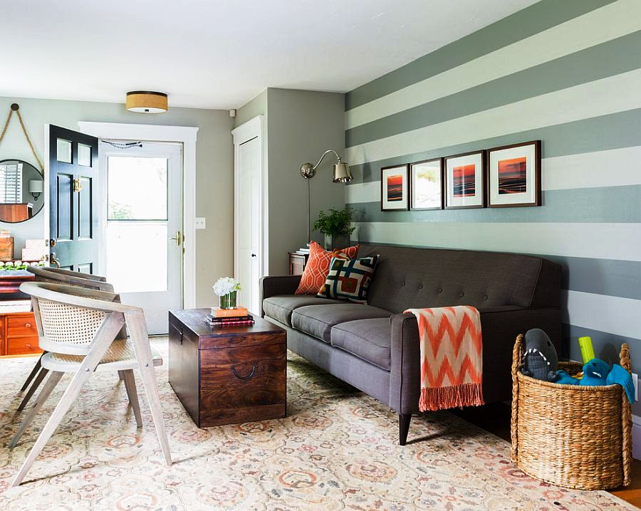 Beautiful-living-room-looks-perfect-with-a-simple-sofa-and-a-striped-accent-wall