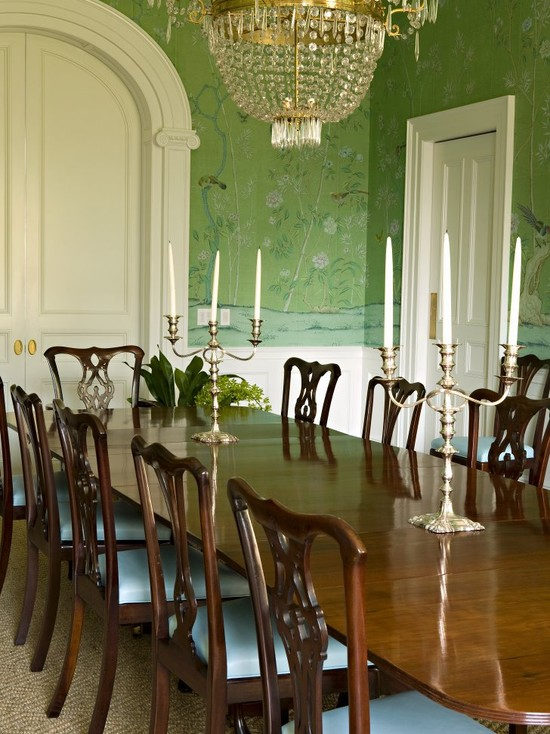 traditional-dining-room-mint-green-chinoiserie