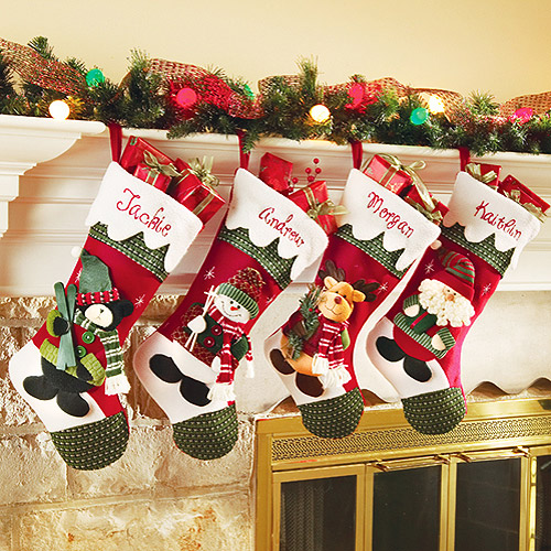 Personalized-Snow-Cap-Christmas-Stocking