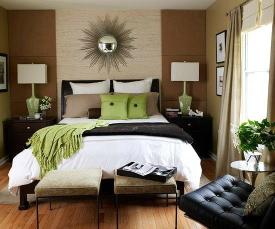 black-brown-white-green-bedroom-color-scheme