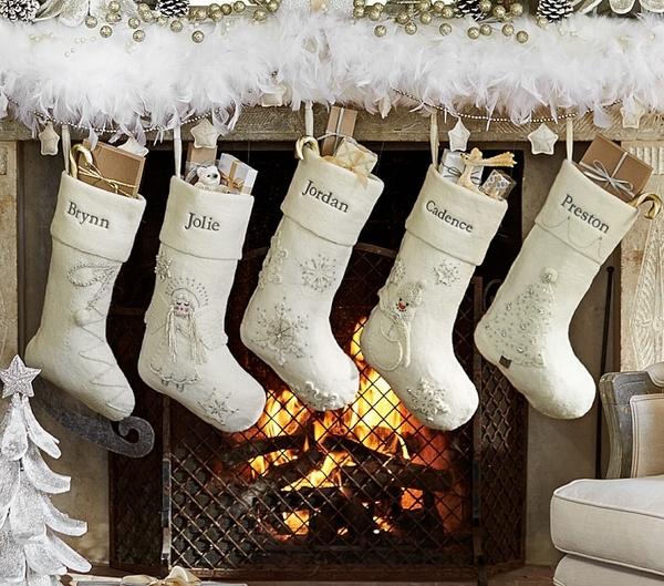 white-stockings-christmas-fireplace-decorating-ideas