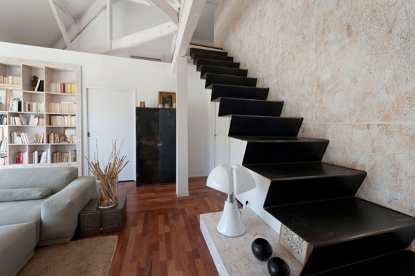 Stairs Covered with Black Marble
