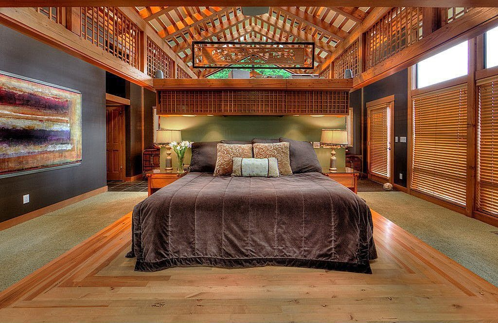 Cavernous master bedroom