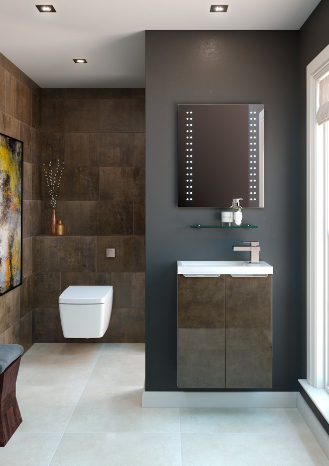 Metallic materials for your bathroom