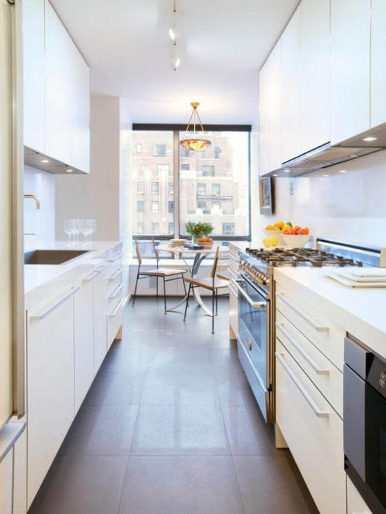 Long Galley Kitchen Design