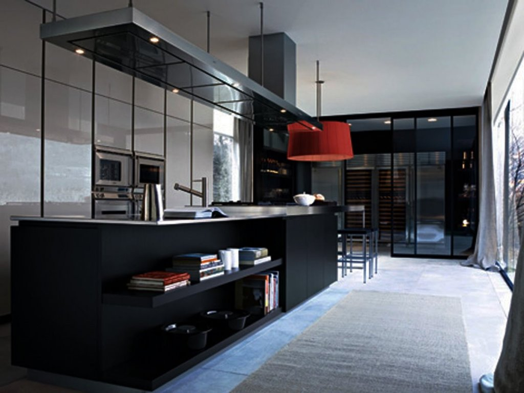 Black And White Luxury Modern Kitchen