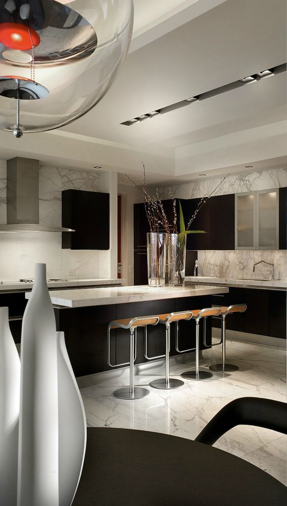 modern and sleek kitchen