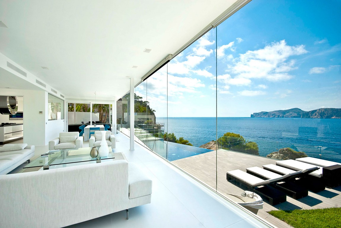 Mallorca-Gold-Living-Room-Patio-View