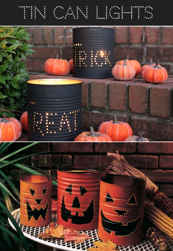 DIY Homemade Tin Can Luminaries