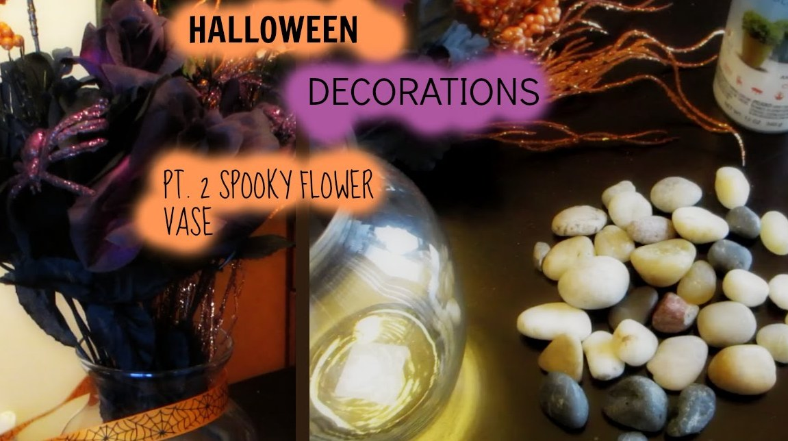 DIY Spooky Vase Halloween Decorations