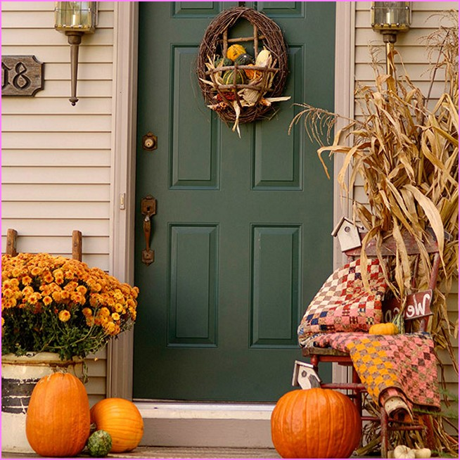 Fall Entry Way Decoration