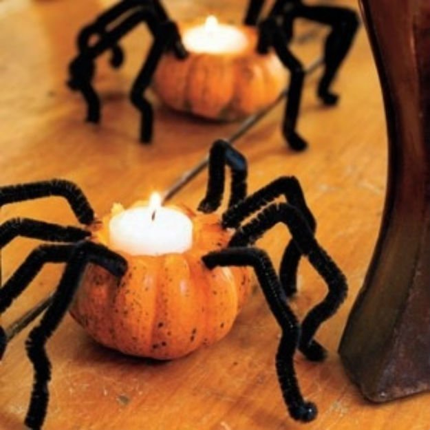 Pumpkin Spiders