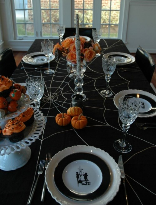 Spiderweb Cloth Table Decoration