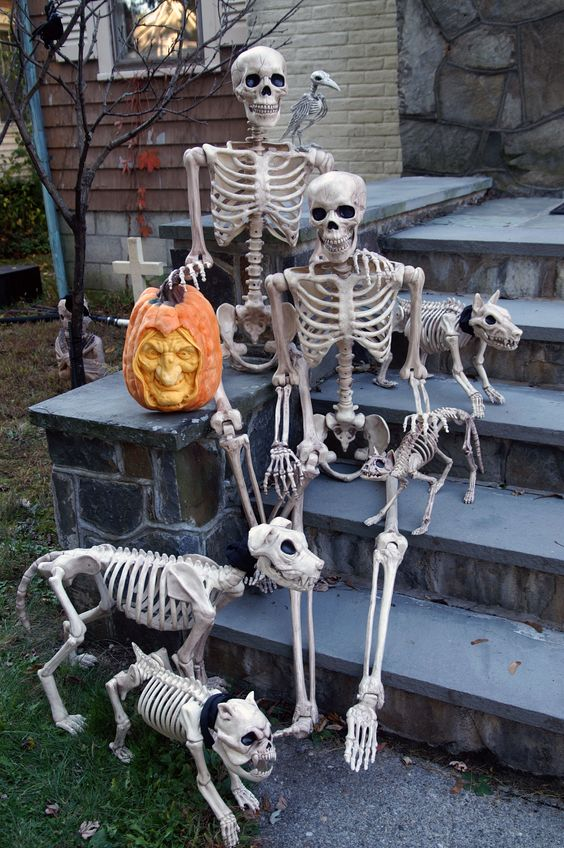 Funny Bones family Halloween Decorations