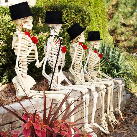 Funny Outdoor Skeleton Crew