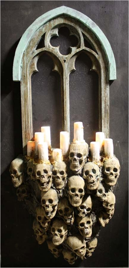 Gothic Windows Skull Wall Decorations