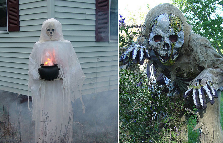 Homemade Outdoor Halloween Yard Decorations